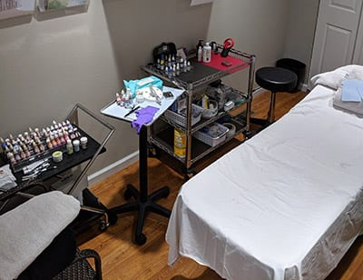 beauty salon cosmetics treatment room in troy il